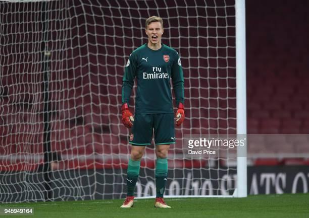 Hugo Keto of Arsenal during the match between Arsenal U23 and Swansea U23 at Emirates Stadium on April 13 2018 in London England