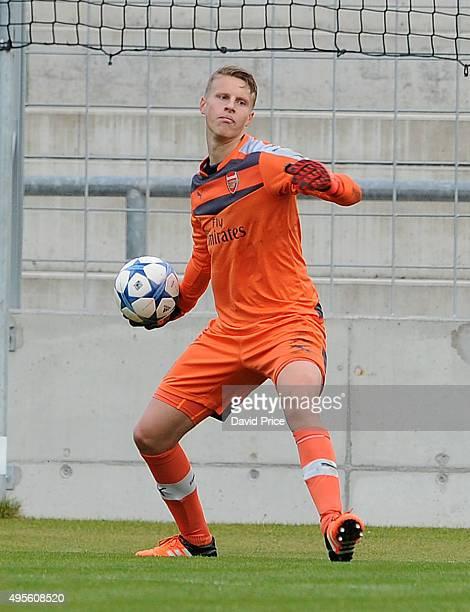 Hugo Keto of Arsenal during the match between Bayern Munich U19 and Arsenal U19 at Grunwalder Stadion on November 4 2015 in Munich Bavaria