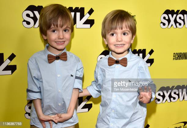 Hugo Lavoie and Lucas Lavoie attend the premiere of 'Pet Sematary' during the 2019 SXSW Conference and Festival at the Paramount Theatre on March 16...