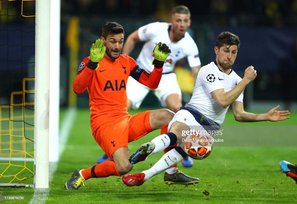 Borussia Dortmund v Tottenham Hotspur - UEFA Champions League Round of 16: Second Leg For Santander : Nachrichtenfoto