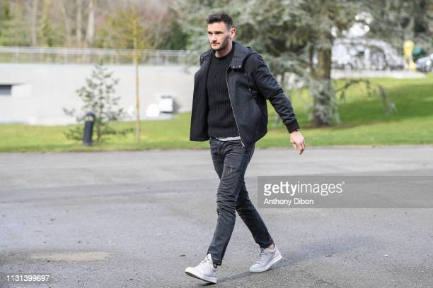 Hugo lloris of France arrives at on March 18 2019 in ClairefontaineenYvelines France