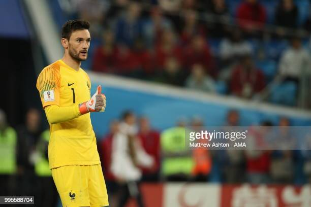 Hugo Lloris of France during the 2018 FIFA World Cup Russia Semi Final match between Belgium and France at Saint Petersburg Stadium on July 10 2018...