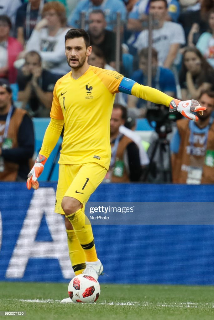 Hugo Lloris of France national team gestures during the 2018 FIFA World Cup Russia Quarter Final match between Uruguay and France on July 6, 2018 at Nizhny Novgorod Stadium in Nizhny Novgorod, Russia.