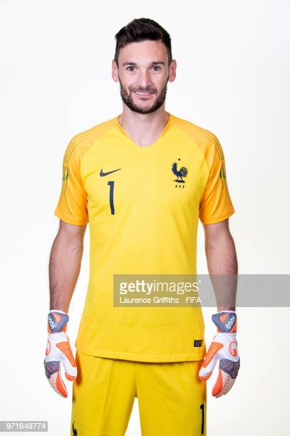 Hugo Lloris of France poses for a portrait during the official FIFA World Cup 2018 portrait session at the Team Hotel on June 11 2018 in Moscow Russia