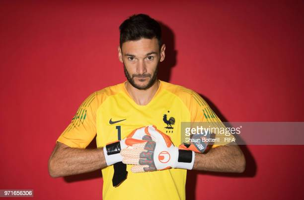 Hugo Lloris of France poses for a potrait at the team hotel during the official FIFA World Cup 2018 portrait session at on June 11 2018 in Moscow...