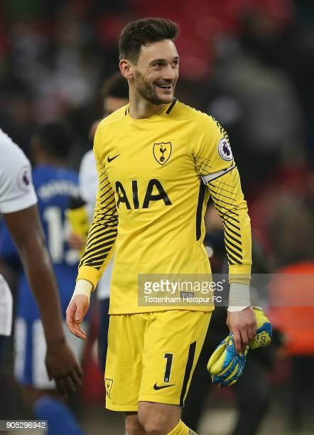 Hugo Lloris of Tottenham Hotspur after the Premier League match between Tottenham Hotspur and Everton at Wembley Stadium on January 13 2018 in London...