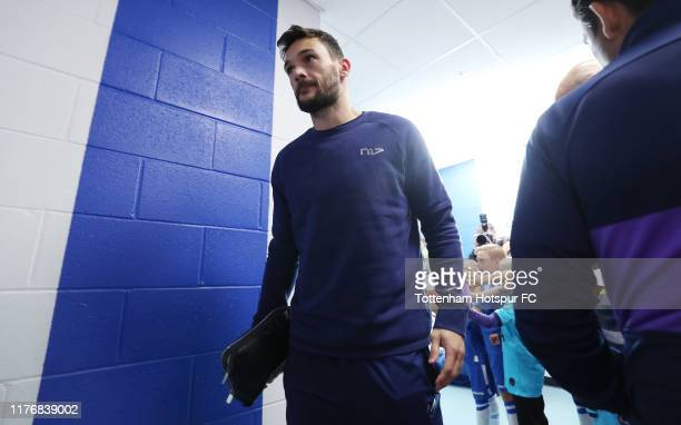 Hugo Lloris of Tottenham Hotspur arrives prior to the Carabao Cup Third Round match between Tottenham Hotspur and Colchester United at JobServe...