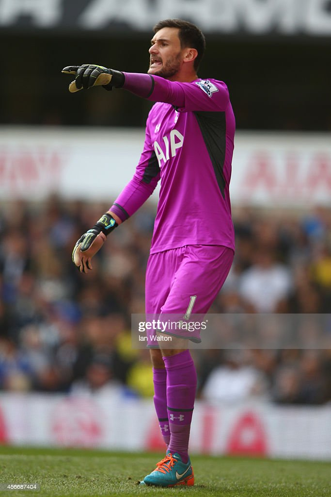 Hugo Lloris of Tottenham Hotspur during the Barclays Premier League match between Tottenham Hotspur and Southampton at White Hart Lane on October 5, 2014 in London, England.