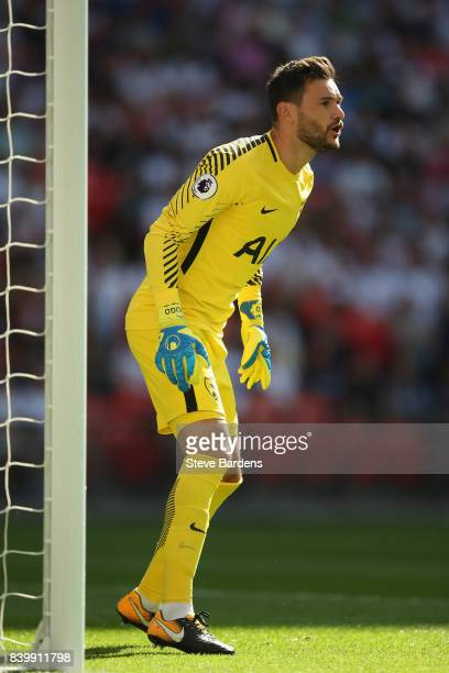 Hugo Lloris of Tottenham Hotspur during the Premier League match between Tottenham Hotspur and Burnley at Wembley Stadium on August 27 2017 in London...