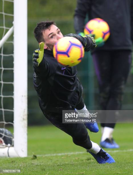Hugo Lloris of Tottenham Hotspur during the Tottenham Hotspur training session at Tottenham Hotspur Training Centre on January 10 2019 in Enfield...
