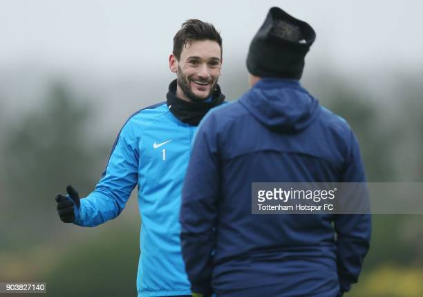 Hugo Lloris of Tottenham Hotspur during the Tottenham Hotspur training session at Tottenham Hotspur Training Centre on January 11 2018 in Enfield...