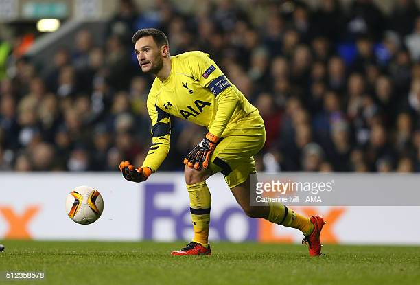 Hugo Lloris of Tottenham Hotspur during the UEFA Europa League match between Tottenham Hotspur and Fiorentina at White Hart Lane on February 25 2016...