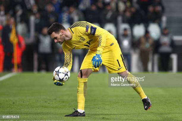 Hugo Lloris of Tottenham Hotspur Fc in action during the UEFA Champions League round of 16 first leg match between Juventus FC and Tottenham Hotspur...