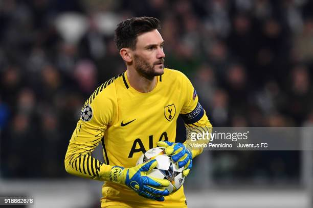 Hugo Lloris of Tottenham Hotspur in action during the UEFA Champions League Round of 16 First Leg match between Juventus and Tottenham Hotspur at...