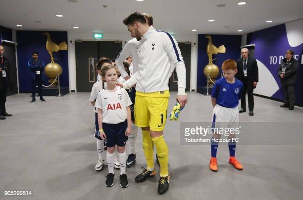 Hugo Lloris of Tottenham Hotspur in the tunnel prior to the Premier League match between Tottenham Hotspur and Everton at Wembley Stadium on January...