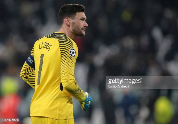 Hugo Lloris of Tottenham Hotspur looks on during the UEFA Champions League Round of 16 First Leg match between Juventus and Tottenham Hotspur at...