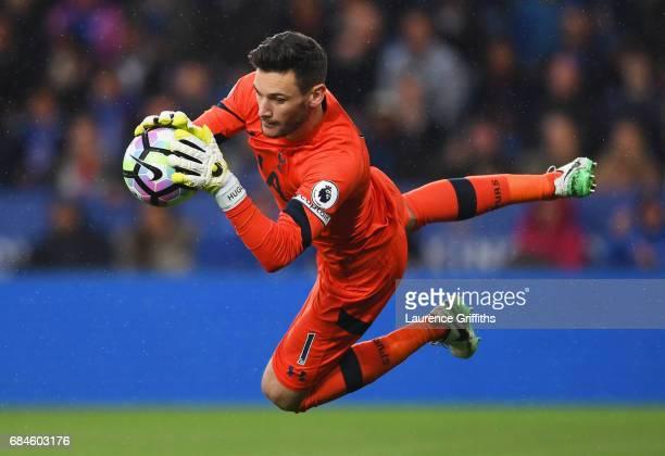 Hugo Lloris of Tottenham Hotspur makes a save during the Premier League match between Leicester City and Tottenham Hotspur at The King Power Stadium...