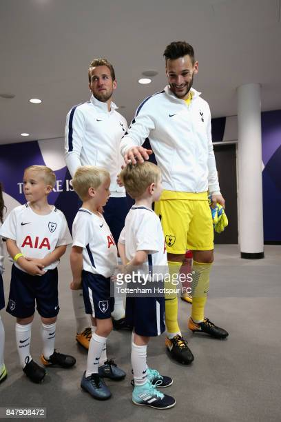 Hugo Lloris of Tottenham Hotspur prepares to lead the teams out prior to the Premier League match between Tottenham Hotspur and Swansea City at...