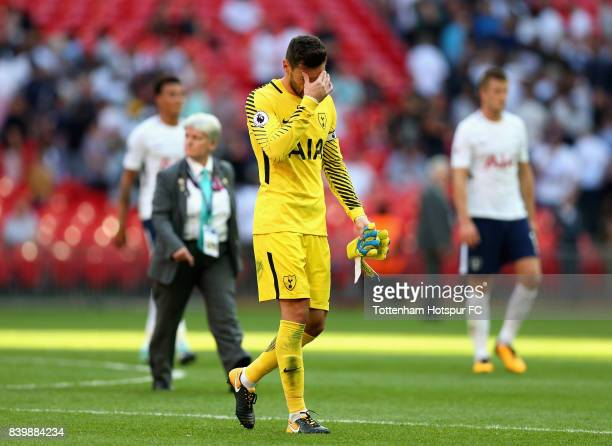 Hugo Lloris of Tottenham Hotspur walks off dejected after the Premier League match between Tottenham Hotspur and Burnley at Wembley Stadium on August...