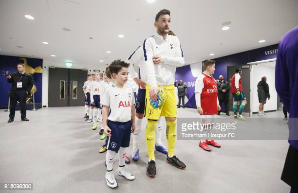 Hugo Lloris of Tottenham in the tunnel prior to the Premier League match between Tottenham Hotspur and Arsenal at Wembley Stadium on February 10 2018...