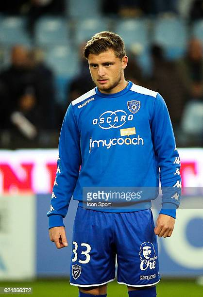 Hugo Magnetti of Bastia during the Ligue 1 match between SC Bastia and Montpellier Herault SC at Stade Armand Cesari on November 19 2016 in Bastia...