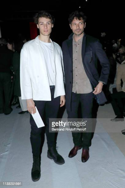 Hugo Marchand and Andres Velencoso Segura attend the Haider Ackermann show as part of the Paris Fashion Week Womenswear Fall/Winter 2019/2020 on...
