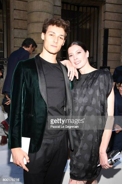 Hugo Marchand and MarieAgnes Gillot attend the Berluti Menswear Spring/Summer 2018 show as part of Paris Fashion Week on June 23 2017 in Paris France