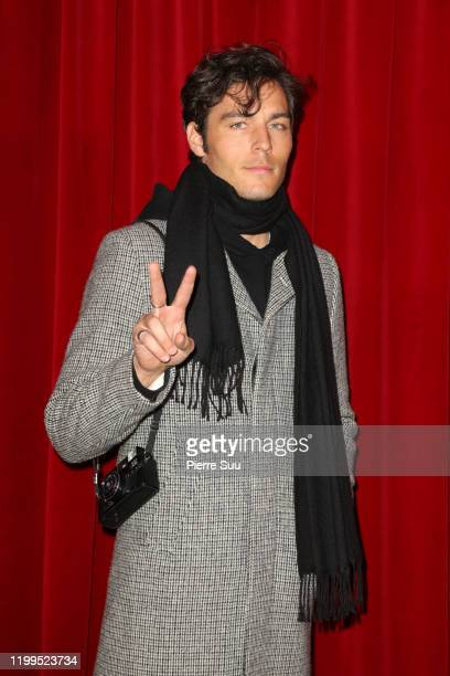 Hugo Marchand attends the Ami Alexandre Mattiussi Menswear Fall/Winter 20202021 show as part of Paris Fashion Week on January 14 2020 in Paris France