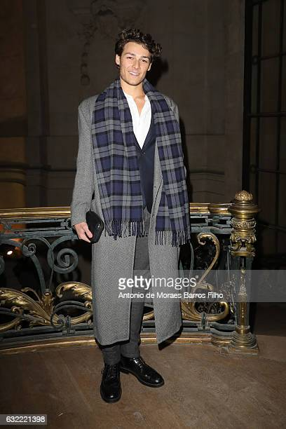 Hugo Marchand attends the Berluti Menswear Fall/Winter 20172018 show as part of Paris Fashion Week on January 20 2017 in Paris France