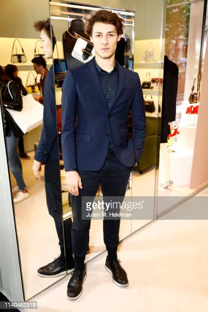 Hugo Marchand attends the cocktail hosted by Prada for Nylon Collaborative Projects on April 04 2019 in Paris France