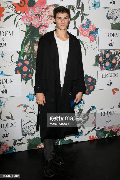 Hugo Marchand attends the 'ERDEM X HM' Paris Collection Launch at Hotel du Duc on October 26 2017 in Paris France