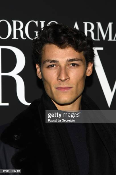 Hugo Marchand attends the Giorgio Armani Prive Haute Couture Spring/Summer 2020 show as part of Paris Fashion Week on January 21 2020 in Paris France