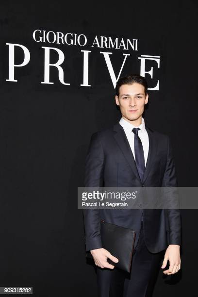 Hugo Marchand attends the Giorgio Armani Prive Haute Couture Spring Summer 2018 show as part of Paris Fashion Week on January 23 2018 in Paris France