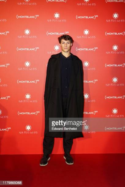 Hugo Marchand attends the Montblanc Launch Dinner and Party at Monsieur Bleu on October 08 2019 in Paris France