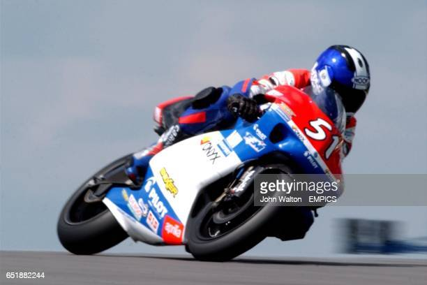 Hugo Marchand during practice for the 250cc race
