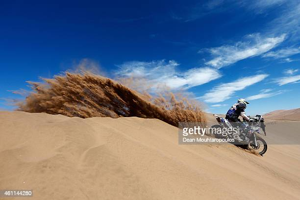 Hugo Payen of France for Team Marc Dorcel on the 450 YZF Yamaha competes during day 4 of the Dakar Rallly on January 7 2015 between Chilecito in...