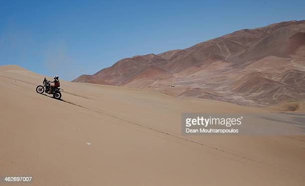 Hugo Payen of FRANCE for Yamaha Team Marc Dorcel competes in stage 9 during Day 10 of the 2014 Dakar Rally on January 14 2014 in Iquique Chile
