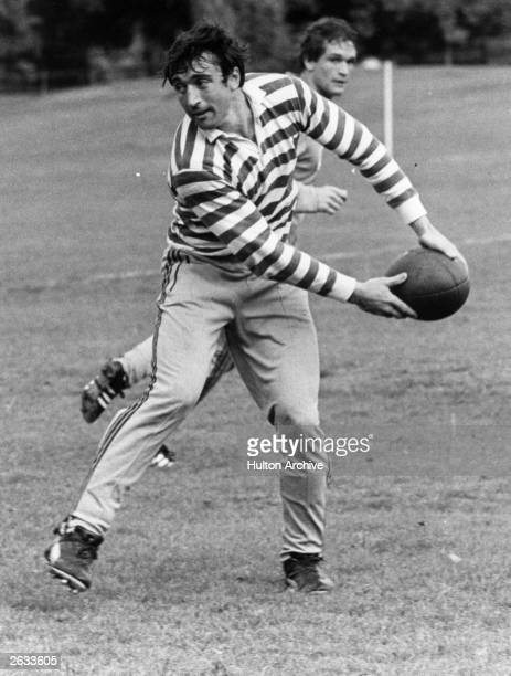 Hugo Porta who is the skipper of the Argentine Rugby Union known as the 'Pumas' in action during a training session at Bisham Abbey Buckinghamshire...