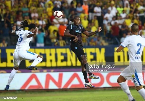 Hugo Rodallega Martinez of Tranbzonspor in action during Turkish Super Lig soccer match between MKE Ankaragucu and Trabzonspor in Ankara Turkey on...