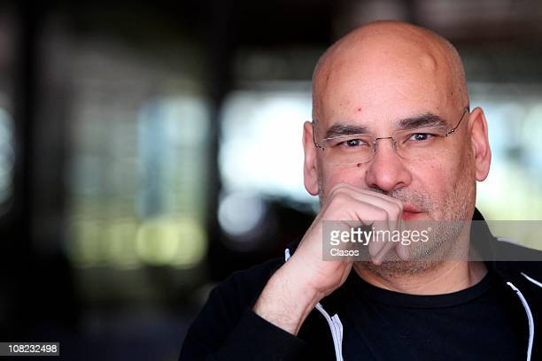 Hugo Rodriguez poses for a photograph during a press conference of the movie Una Pared para Cecilia at Cineteca Nacional on January 20 2011 in Mexico...