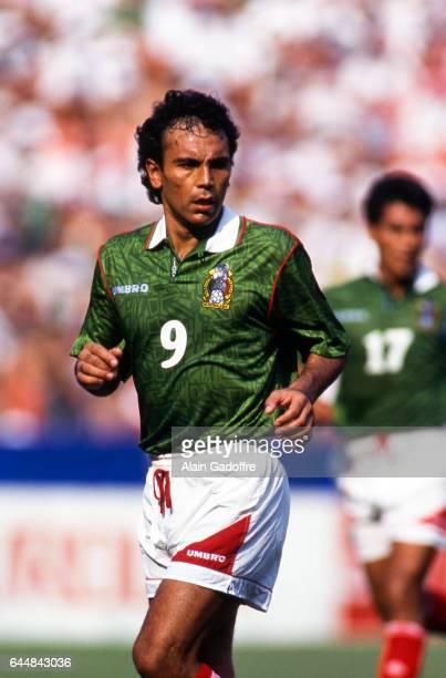 Hugo Sanchez Norvege / Mexique Coupe du Monde 1994 Photo Alain Gadoffre / Icon Sport