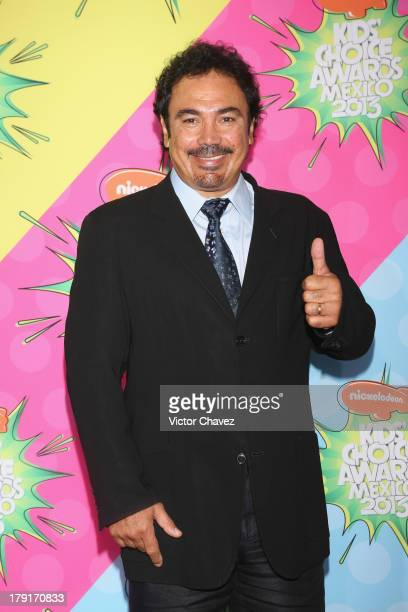 Hugo Sanchez arrives at Kids Choice Awards Mexico 2013 at Pepsi Center WTC on August 31 2013 in Mexico City Mexico