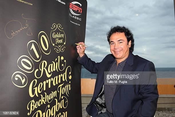 Hugo Sanchez attends the Golden Foot Previews on October 10 2010 in Monaco Monaco