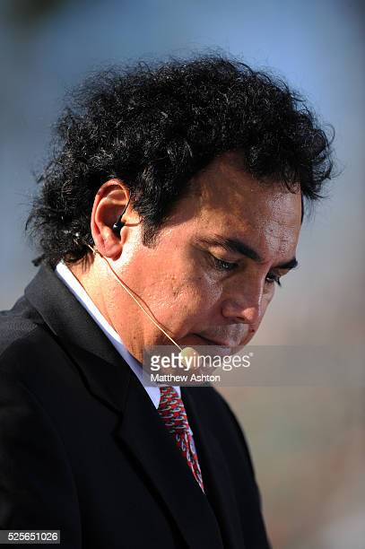 Hugo Sanchez Mexico football legend who played for Real Madrid now working for a Mexican television company