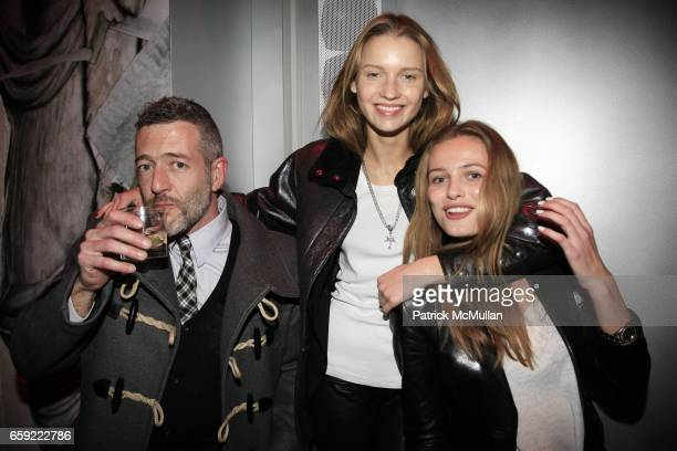 Hugo Santos Laura Blokhina and Edita Vilkeviciute attend THE ICONOCLASTS at PRADA Broadway at Prada Broadway on February 13 2009 in New York City