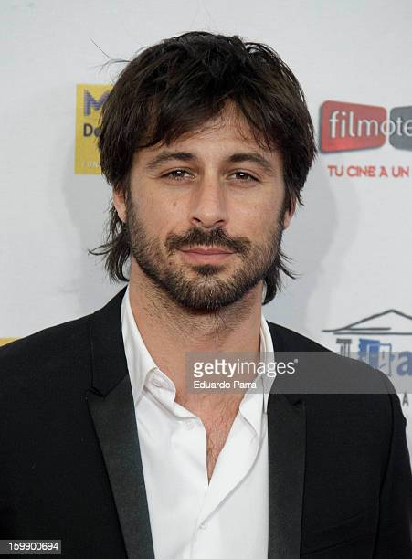 Hugo Silva attends Jose Maria Forque awards photocall at Canal theatre on January 22 2013 in Madrid Spain