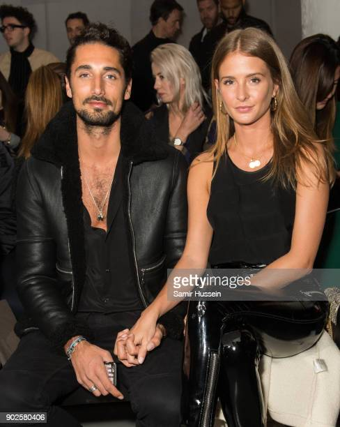 Hugo Taylor and Millie Mackinstosh attend the Blood Brothers show during London Fashion Week Men's January 2018 at on January 8 2018 in London England