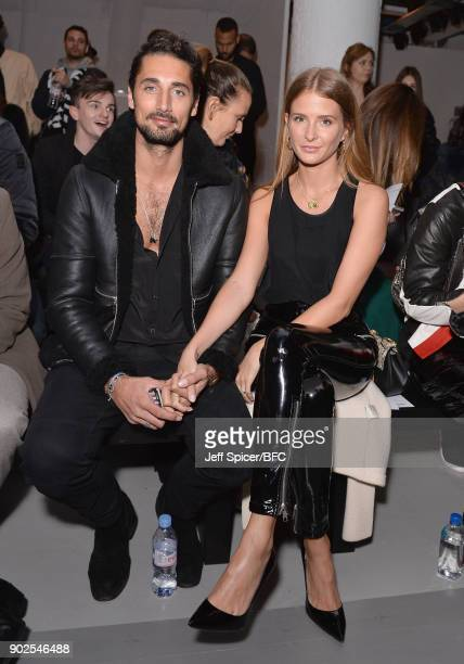 Hugo Taylor and Millie Mackintosh attend the Blood Brother show during London Fashion Week Men's January 2018 at BFC Show Space on January 8 2018 in...