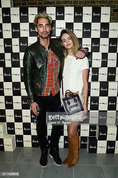 Hugo Taylor and Natalie Joel attend the Serpentine Future Contemporaries x Harrods Party 2016 at The Serpentine Sackler Gallery on February 20 2016...