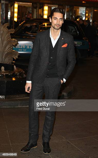 Hugo Taylor attends 'Kate Moss At The Savoy' an exhibition of never before seen photographers of Kate Moss at The Savoy Hotel on January 30 2014 in...